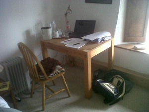 My retreat writing desk